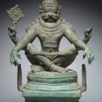 Yoga Narasimha, Vishnu in His Man-Lion Avatar, India, Tamil Nadu, circa 1250, bronze, 55.2 cm;
