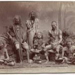 Colin Murray for Bourne & Shepherd, Group of Yogis, circa 1880s, albumen print, 22.2 x 29.2 cm.