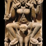 Yogini, India, Uttar Pradesh, Kannauj, first half of the 11th century, sandstone, 86.4 x 43.8 x 24.8 cm.