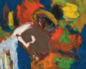 George McNeil, Landscape Motif 5/3/68, 1968, oil on panel, 16 x 20 inches;