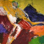 George McNeil, Bather #4, 1968, oil on linen, 72 x 78 inches;