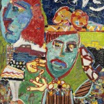 George McNeil, Sheridan Square, 1988, oil on canvas, 78 x 64 inches