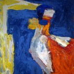 George McNeil, Asphodel, 1962, oil on linen, 78 x 72 inches;