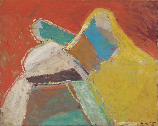 George McNeil, Medea, 1957, oil on linen, 64 x 80 inches;