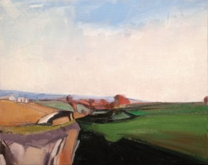 Christopher Benson, Tintagel, 2014, oil on linen, 16 x 20 inches;