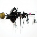 Akira Shimizu, Untitled (From the Darkness), 1989, mixed-media assemblage, 11 ½ x 18 ½ x 2 ½ inches.