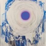 Dan Christensen, Vanilla Blue, 1998, acrylic on canvas, 67 x 55 ½ inches;
