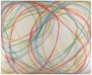 Dan Christensen, Pavo, 1968, acrylic on canvas, 108 x 132 inches;