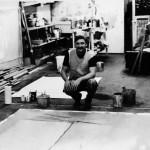 Dan Christensen in his studio;