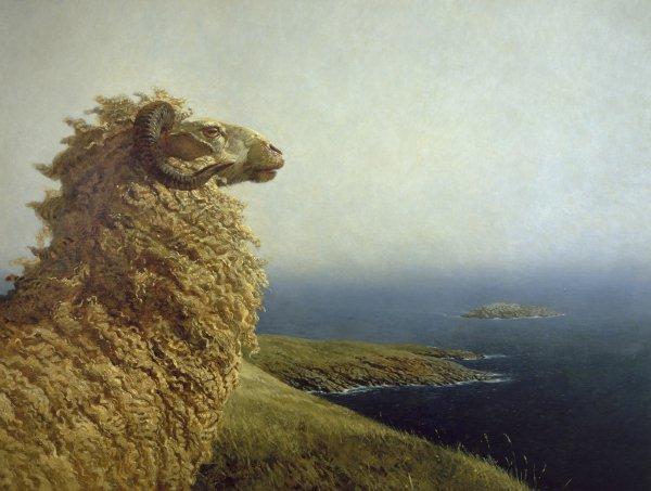 Jamie Wyeth, The Islander, 1972, oil on canvas.