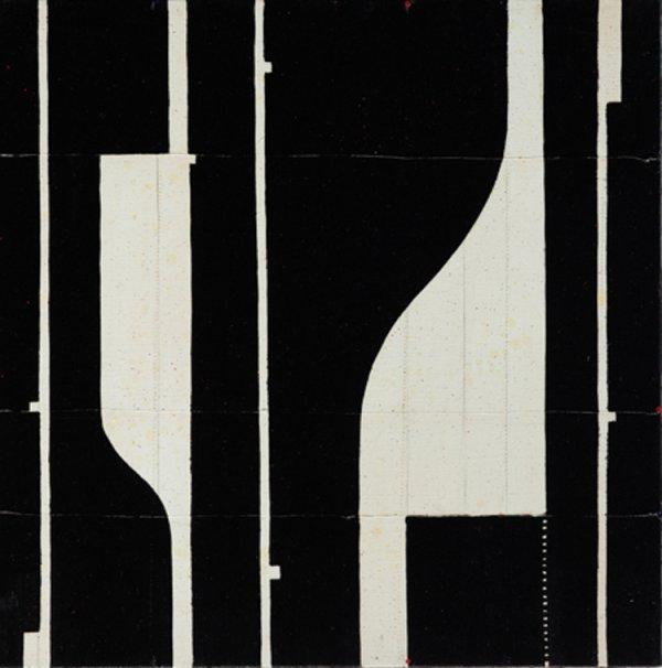 Caio Fonseca, Pietrasanta C11.59, 2011, mixed media on canvas, 24 x 24 inches;