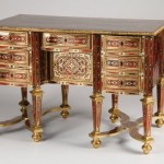 Louis XIV inlaid desk by André-Charles Boulle.