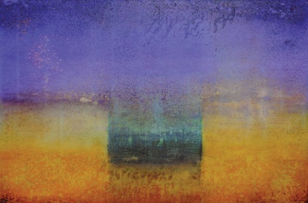 Scott Upton, Golden Sunrise, mixed media on canvas, 48 x 72 inches.
