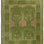 C.F.A. Voysey, carpet, first quarter 20th century, hand-woven wool, 128 x 151 inches;