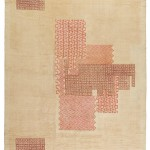 Ivan da Silva Bruhns, pile carpet, second quarter 20th century, hand-woven wool, 106 x 163 inches;