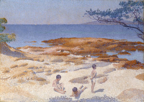 Henri-Edmond Cross, Beach at Cabasson (Baigne-Cul), 1891-92, oil on canvas.