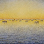 Paul Signac, Setting Sun. Sardine Fishing. Adagio. Opus 221 from the series The Sea, The Boats, Concarneau, 1891, oil on canvas.