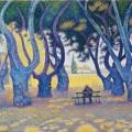 aul Signac, Place des Lices, St. Tropez, 1893, oil on canvas.
