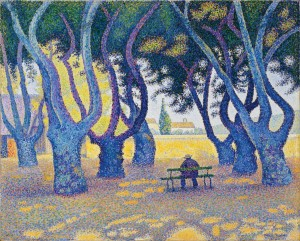 aul Signac, Place des Lices, St. Tropez, 1893, oil on canvas.