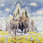 Charles Burchfield, Early Spring, 1966-67, watercolor and charcoal on paper, 37 1/8 x 42 1⁄4.""