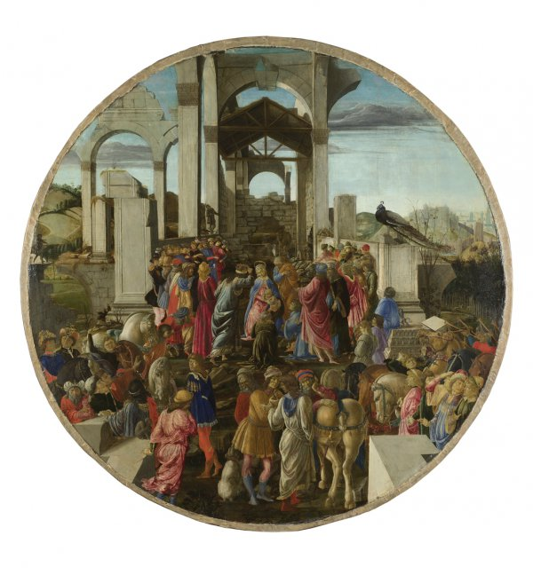 Sandro Botticelli, The Adoration of the Kings, circa 1470–75, tempera on poplar, 130.8 x 130.8 cm.