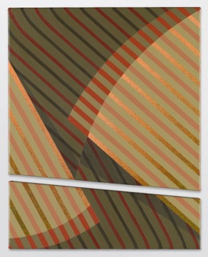 Tomma Abts, yet-to-be-titled acrylic and oil on canvas, 2014, 18 7/8 x 15 inches.