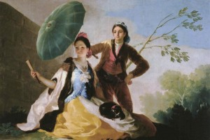 Francisco Goya, The Parasol, 1777, oil on canvas, tapestry cartoon;