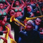 Archibald J. Motley Jr., Hot Rhythm, 1961, oil on canvas, 40 x 48.375 inches;