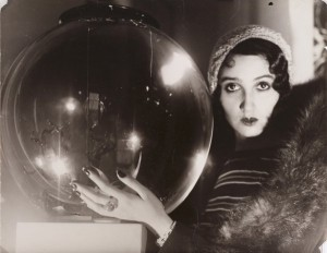 Jacques-Henri Lartigue, The Crystal Ball (La Boule de Verre), 1931, gelatin silver print, toned.