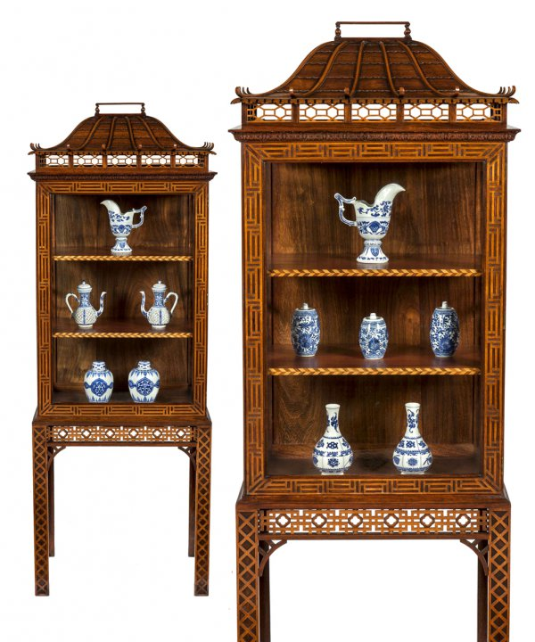 "Pair of ""Chinese"" display cabinets"
