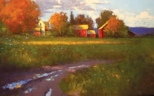 Romona Youngquist, After an October Rain, oil on canvas, 54 x 84 inches.