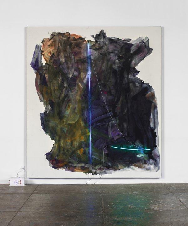 Mary Weatherford, La Noche, 2014