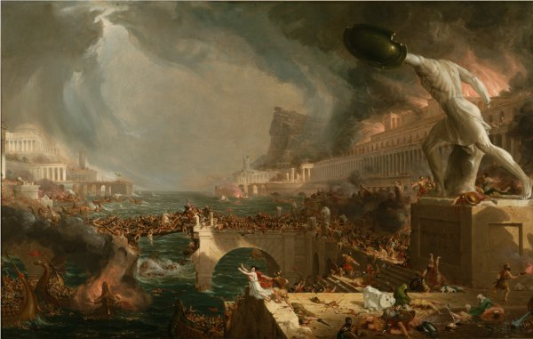 Thomas Cole , The Course of Empire: Destruction, 1836