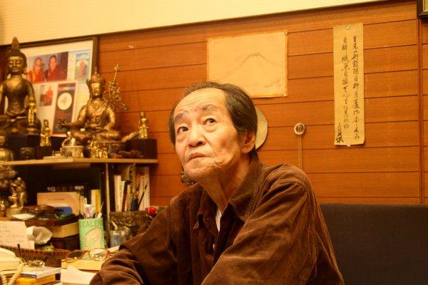 Collector Yasuyoshi Morimoto at home in Kyoto;