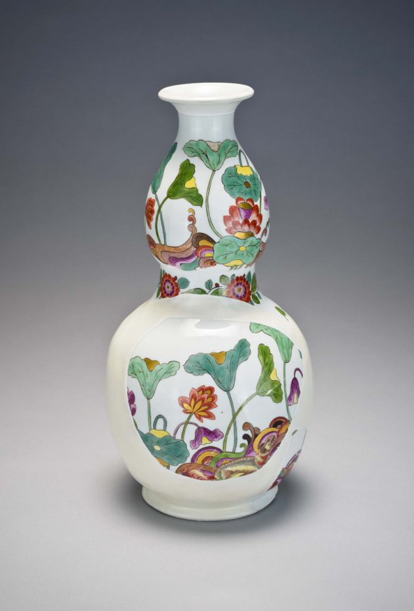 fragmentary bottle-gourd vase, reconstructed
