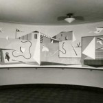 Historic image of the Rugolo mural in situ
