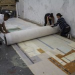 Work on the Rugolo mural