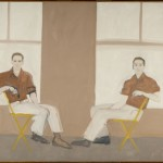 Alex Katz, Double Portrait of Robert Rauschenberg, 1959