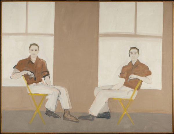 Alex Katz, Double Portrait of Robert Rauschenberg, 1959