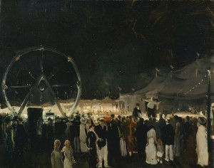 George Bellows, Outside the Big Tent, 1912