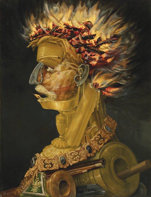Giuseppe Arcimboldo, Fire, 1566