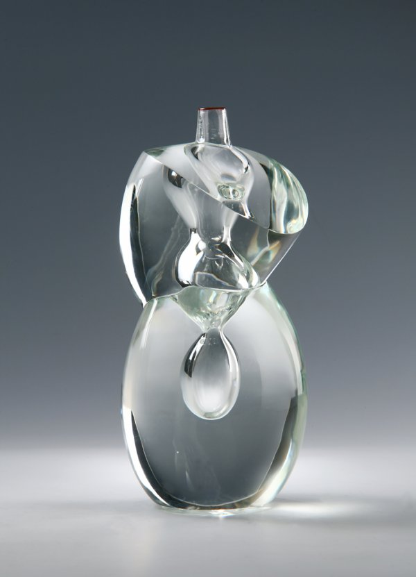 "Yoichi Ohira, ""Cristallo Sommerso N. 72 – Scolpito"" Vase,"