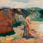 Elmer Bischoff, Figure with White Lake, 1964