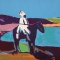 Fritz Scholder, Indian at the Lake, 1977