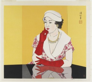 Ito Shinsui, A Woman in Western Dress, 1960