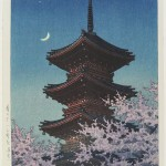 Kawase Hasui, Spring Dusk at the Tosho Shrine in Ueno, 1948