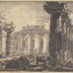 Giovanni Battista Piranesi, Paestum, Italy: Interior of the Basilica, from the West, 1777