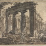 Giovanni Battista Piranesi, Paestum, Interior of the Temple of Neptune from the West, 1777