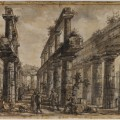 Giovanni Battista Piranesi, Temple of Neptune, View of the Interior from the West, 1777