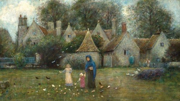 Marie Spartali Stillman, Kelmscott Manor: From the Field